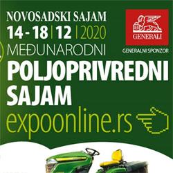 Poljoprivredni sajam od 14. do 18. decembra - ONLINE