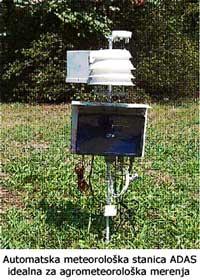 Prognoza mraza pomoću automatske meteorološke stanice