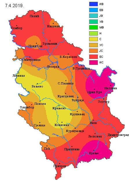 Monitoring suše ukazuje na alarmantno stanje